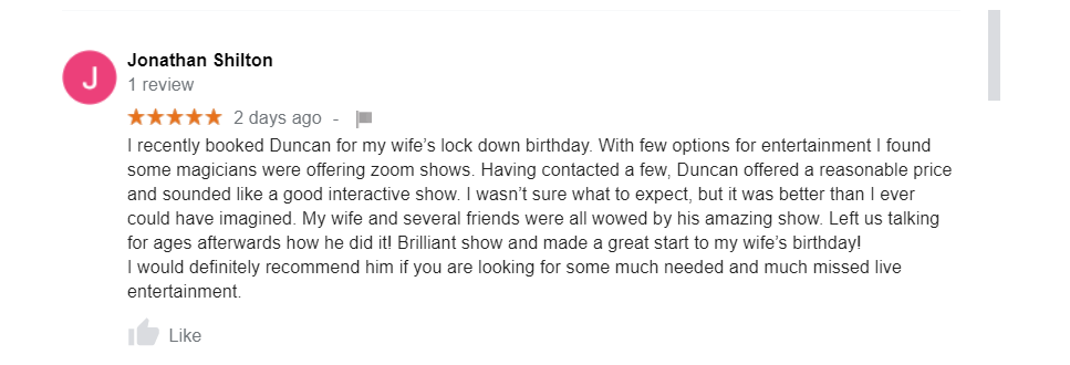 Reviews from the show